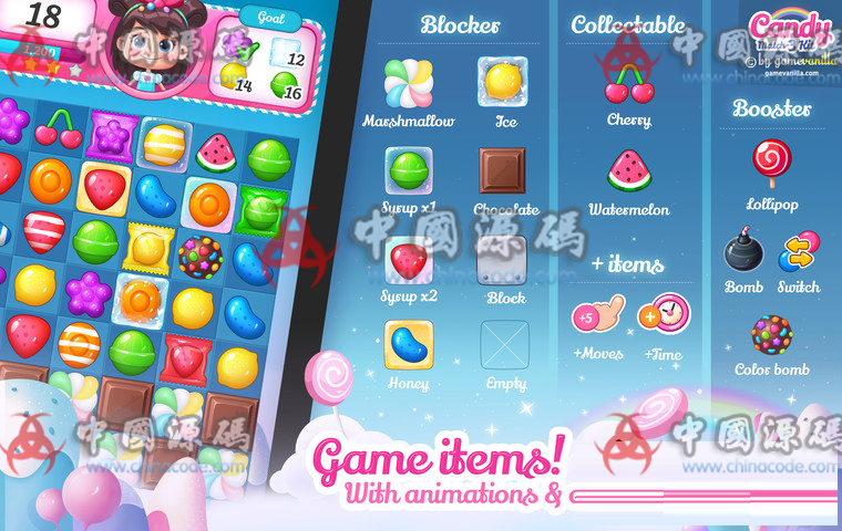 Unity糖果三消除游戏源码Candy Match 3 Kit v1.1.1 手游-第6张