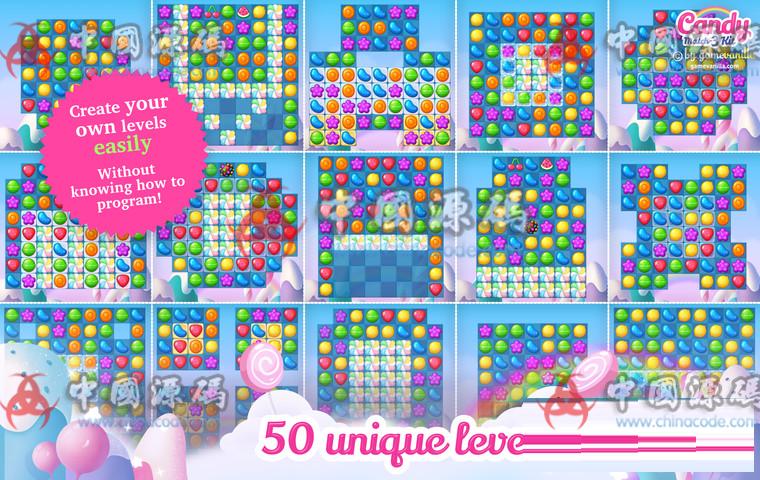 Unity糖果三消除游戏源码Candy Match 3 Kit v1.1.1 手游-第7张