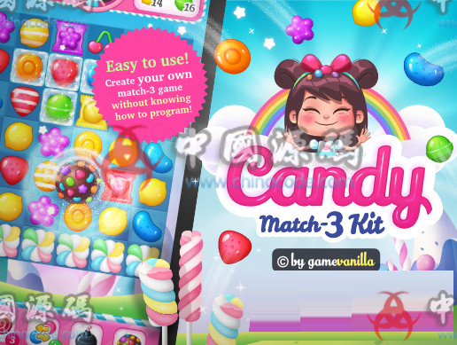 Unity糖果三消除游戏源码Candy Match 3 Kit v1.1.1 手游-第1张