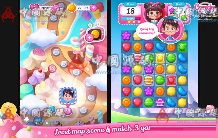 Unity糖果三消除游戏源码Candy Match 3 Kit v1.1.1 手游-第2张