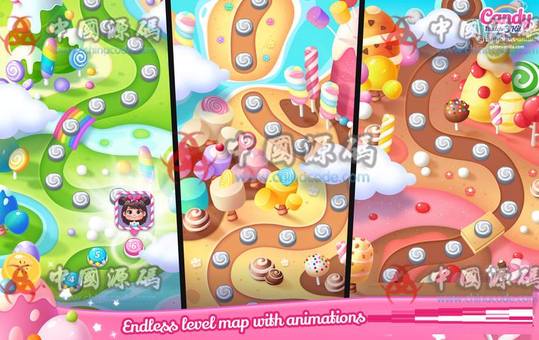 Unity糖果三消除游戏源码Candy Match 3 Kit v1.1.1 手游-第8张
